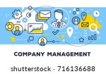 company management concept on... | Shutterstock .eps vector #716136688