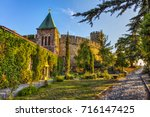 church of ruzica  kalemegdan... | Shutterstock . vector #716147425