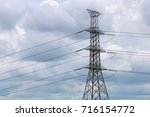 high power electricity... | Shutterstock . vector #716154772