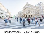 crowd of anonymous people... | Shutterstock . vector #716156506