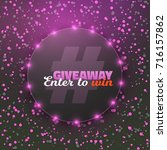 illustration of giveaway button.... | Shutterstock . vector #716157862