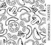 vegetables vector illustration. ... | Shutterstock .eps vector #716159212
