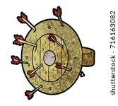 shield full of arrows | Shutterstock .eps vector #716163082