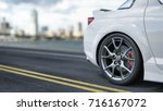 the back of the sports car the... | Shutterstock . vector #716167072