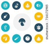 set of 13 editable food icons....