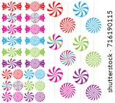 swirled candy peppermints as... | Shutterstock .eps vector #716190115