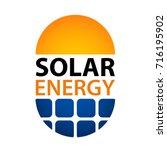 solar energy symbol vector   Shutterstock .eps vector #716195902