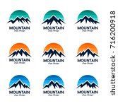 mountain   sky logo design... | Shutterstock .eps vector #716200918