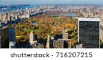 elevated view of central park... | Shutterstock . vector #716207215