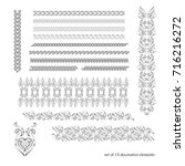 calligraphic borders  patterns  ... | Shutterstock . vector #716216272