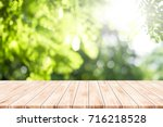empty table for present product ...   Shutterstock . vector #716218528