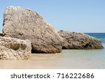 View Of A Rock From The Beach ...