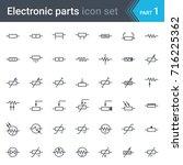 complete vector set of electric ... | Shutterstock .eps vector #716225362