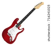 Red Electric Guitar  Classic....
