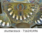 Small photo of Kronstadt, Russia-July 10, 2017: The interior of the Kronstadt Naval cathedral of St. Nicholas the Wonderworker (Nikolsky Stauropegic Naval Cathedral). Naval cathedral was erected in 1903-1913.