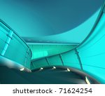 Spiral Staircase 3D render - stock photo