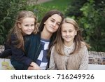close up portrait of three... | Shutterstock . vector #716249926