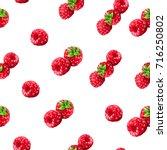 realistic berry raspberries... | Shutterstock .eps vector #716250802