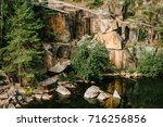 landscape of an old flooded...   Shutterstock . vector #716256856