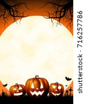 halloween card | Shutterstock . vector #716257786