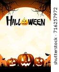 halloween poster | Shutterstock . vector #716257972