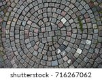 cobblestones laid out in the...   Shutterstock . vector #716267062