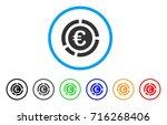 euro financial diagram icon.... | Shutterstock .eps vector #716268406
