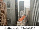 aerial view of lower manhattan... | Shutterstock . vector #716269456