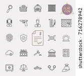 simple set of law and justice...   Shutterstock .eps vector #716278942