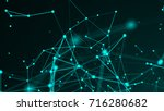 abstract connection dots.... | Shutterstock . vector #716280682