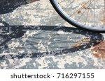 bike wheel and boards | Shutterstock . vector #716297155