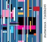 geometric multicolored pattern... | Shutterstock .eps vector #716306245