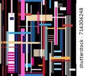 geometric multicolored pattern... | Shutterstock .eps vector #716306248