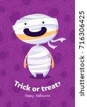 halloween vector poster trick... | Shutterstock .eps vector #716306425