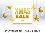 vector happy new year 2018 sale ... | Shutterstock .eps vector #716314876