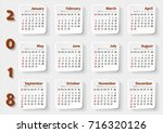 planning calendar on tiled... | Shutterstock .eps vector #716320126