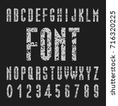 chalk font design  tall vector... | Shutterstock .eps vector #716320225