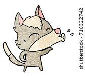 howling wolf cartoon | Shutterstock .eps vector #716322742