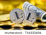 physical version of litecoin ... | Shutterstock . vector #716332606