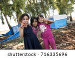 Small photo of Syrian people in unofficial refugee camp in Reyhanli. These people are refugees from Idlib, Rakka and Aleppo and escaped because of Syrian civil war. September 9, 2017, Reyhanli, Turkey.