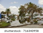 aftermath of hurricane irma... | Shutterstock . vector #716340958
