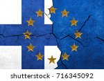 european union and finland... | Shutterstock . vector #716345092