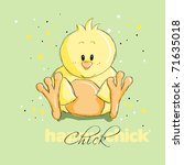 Easter Greeting Card   Chick  ...