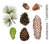 vector illustration cones and... | Shutterstock .eps vector #716355892
