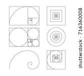 golden ratio template vector...   Shutterstock .eps vector #716360008