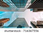 bottom view of business... | Shutterstock . vector #716367556