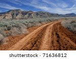 Desert Road   A Rough Dirt Road ...