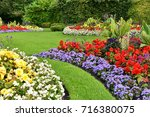 scenic view of colorful... | Shutterstock . vector #716380075