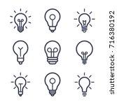 lightbulbs icon set | Shutterstock .eps vector #716380192