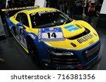 Small photo of SEOUL, KOREA - April 7, 2013 : Audi R8 modify for racing displayed Seoul motor show